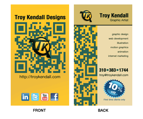 TKdesigns BIZ CARD sample for blog